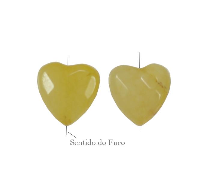 coração amarelo de jade