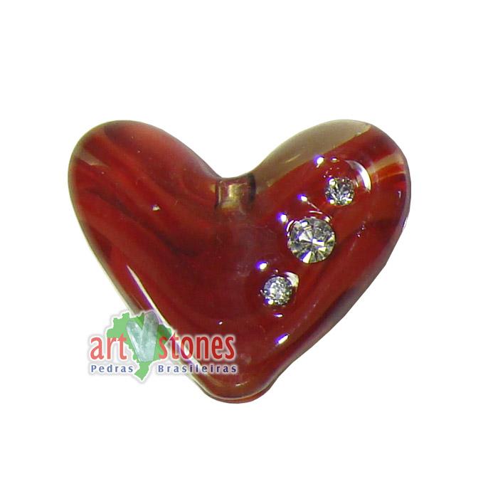 Coração de Murano Vermelho