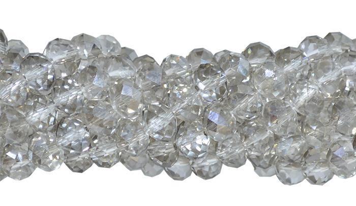 cristal de vidro cinza