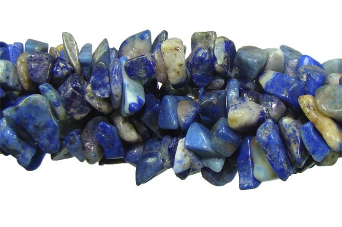 Fio de Cascalho de lápis lazuli