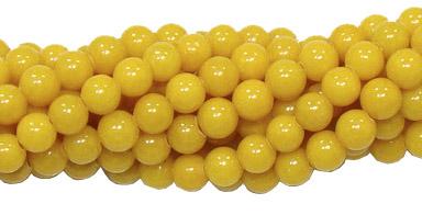Jade Amarelo Escuro 4mm