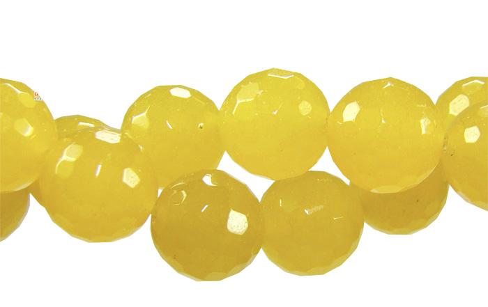 jade amarelo facetado