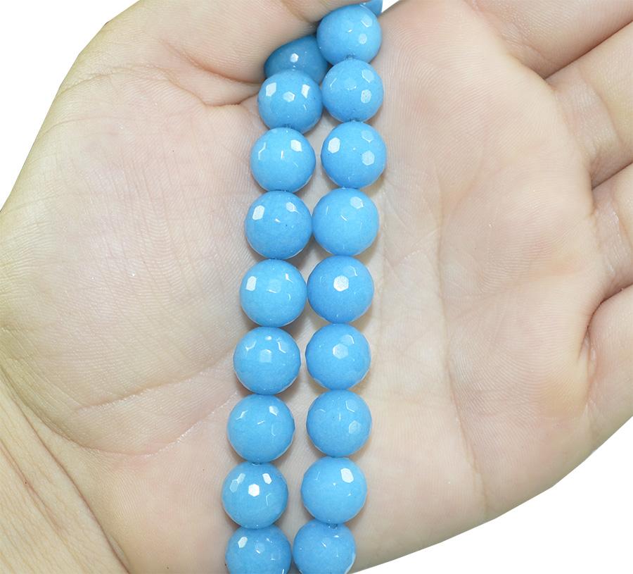Jade Azul Facetado