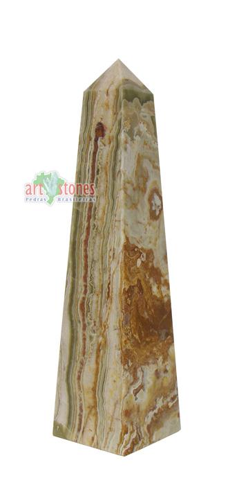 Obelisco em Onix natural Mesclado