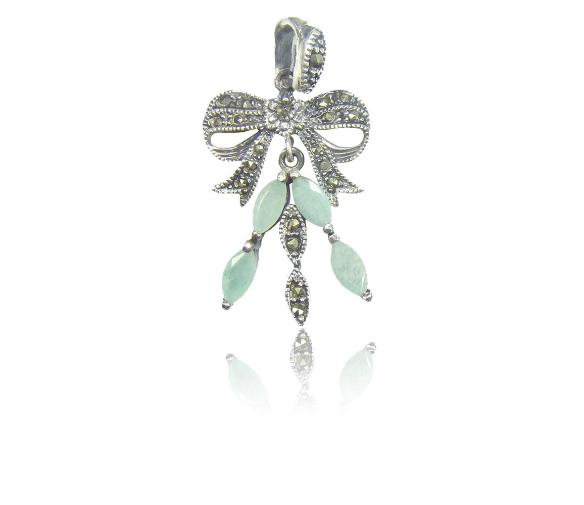 Pingente de Esmeralda com Prata 925