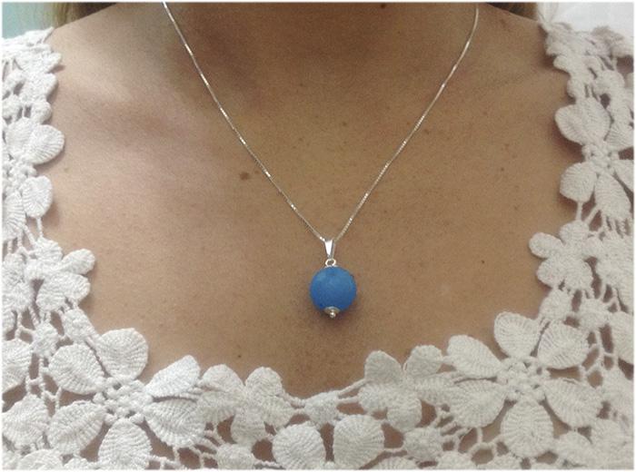Pingente de Jade Azul