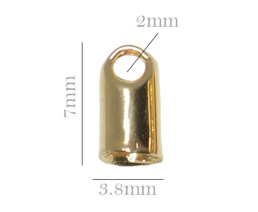 terminal de cordão folheado a ouro