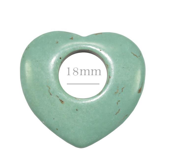 turquesa azul formato coração