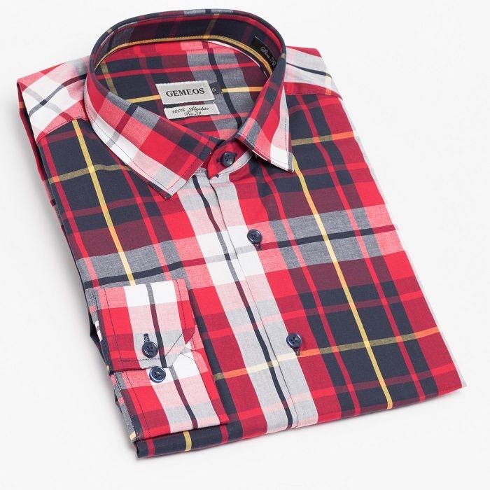 Camisa Manga Longa Slim Xadrez