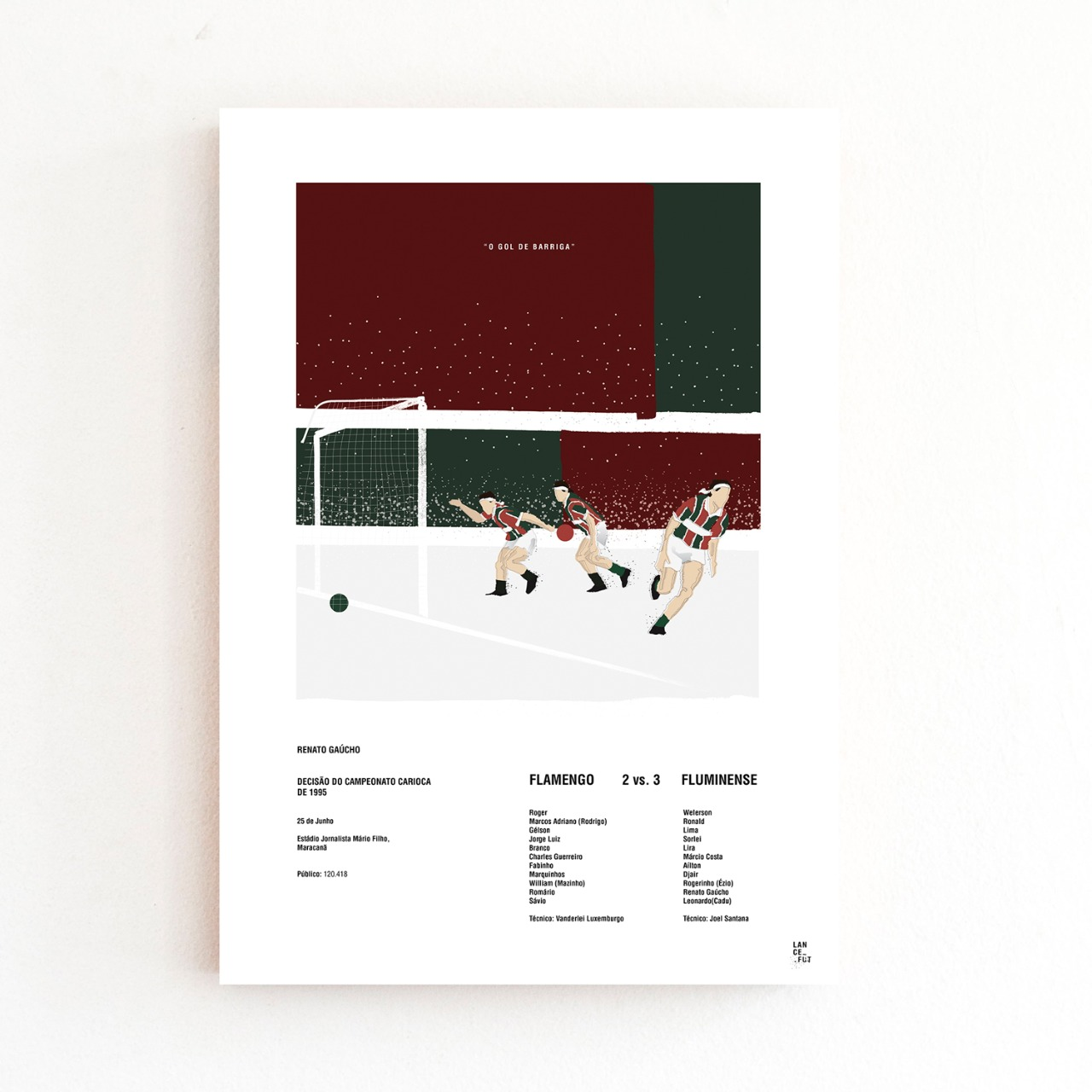 Kit Torcida Tricolor - Gol de Barriga + Voleio de Fred