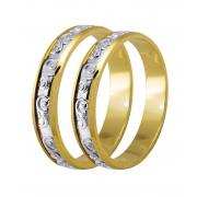 Aliança Bodas de Prata Bicolor em Ouro 18k - Unitária (4mm)