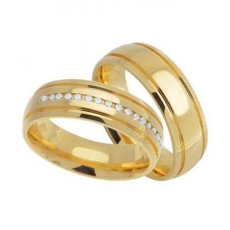 Aliança Casamento de Ouro 18k Carrê Anatômica - Unitária (6.30mm)