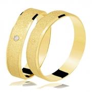 Aliança Casamento de Ouro 18k Diamantada - Unitária (4.5mm)