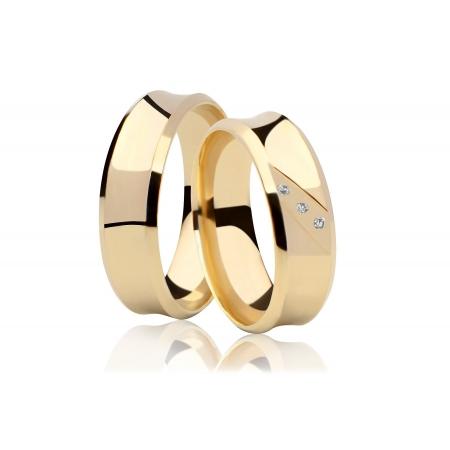 Aliança Côncava de Casamento Anatômica em Ouro 18k  - Unitária (6.6mm)