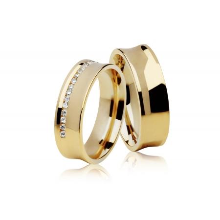 Aliança Côncava de Casamento em Ouro Amarelo 18k Carrê II - Unitária (5.80mm)