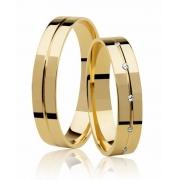 Aliança de Casamento Ágape em Ouro 18k Anatômica (4mm)