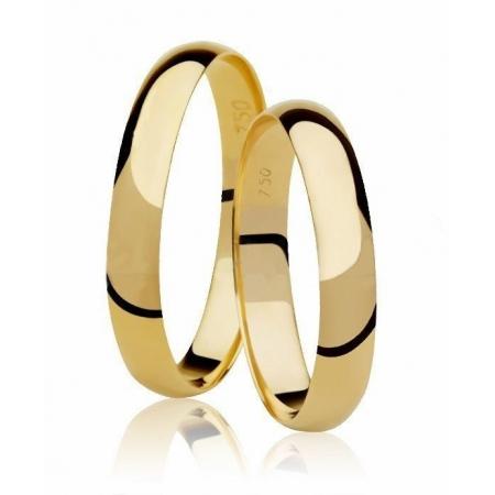 Aliança de Casamento Anatômica Classic em Ouro Amarelo - Unitária (3mm)