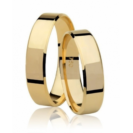 Aliança de Casamento Candle em Ouro Amarelo 18k - Unitária (5mm)