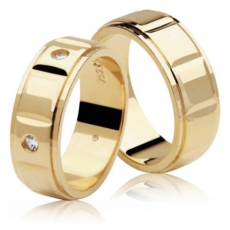 Aliança de Casamento Century Ouro Amarelo 18k - Unitária (7mm)