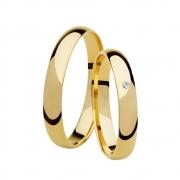 Aliança de Casamento Classic Ouro 18k e Diamante Largura de (3mm)