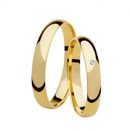 Aliança de Casamento Classic Ouro 18k e Diamante - Unitária (3mm)