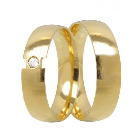 Aliança de Casamento Closer em Ouro e Diamante - Unitária (5mm)