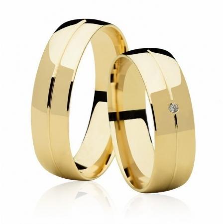 Aliança de Casamento Couple Ouro 18k Anatômica - Unitária (5.8mm)