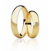 Aliança de Casamento em Ouro 18k Abaulada  (5mm)