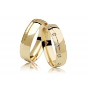 Aliança de Casamento em Ouro 18k Absolute (5mm)