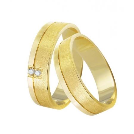 Aliança de Casamento em Ouro 18k Duplo Acabamento - Unitária (4.50mm)