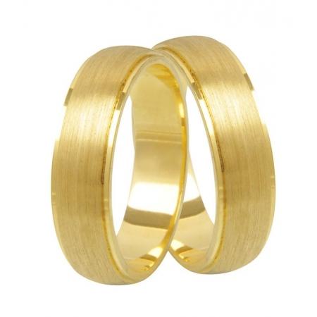 Aliança de Casamento em Ouro 18k Fosco Siàge - Unitária (5mm)