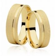 Aliança de Casamento Emotion IV Ouro 18k Diamantada (7mm)