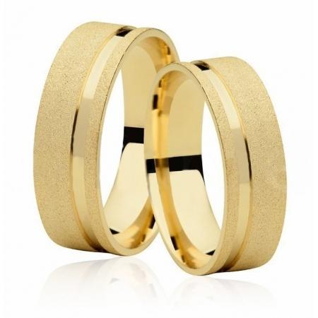 Aliança de Casamento Emotion IV Ouro 18k Diamantada - Unitária (7mm)