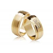 Aliança de Casamento Eterna II Ouro Amarelo 18k (7.10mm)