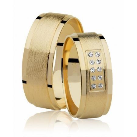 Aliança de Casamento Eterna Ouro Amarelo 18k - Unitária (7.10mm)