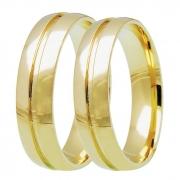 Aliança de Casamento Etoile em Ouro 18k Lisa (5mm)