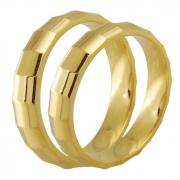 Aliança de Casamento Facets em Ouro Amarelo 18k (4mm)