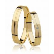 Aliança de Casamento Florença Ouro Amarelo 18k (3.60mm)