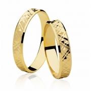 Aliança de Casamento Friezes Ouro Amarelo 18k (3.35mm)