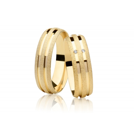 Aliança de Casamento Joy Ouro 18k Diamantada - Unitária (5mm)