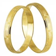 Aliança de Casamento modelo escrava em Ouro 18k - Unitária (2.70mm)
