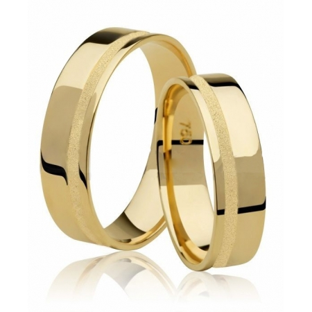 Aliança de Casamento Ouro 18k Friso Diamantado Emotion III - Unitária (5mm)