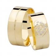 Aliança de Casamento Ouro 18k Heart (7.85mm)