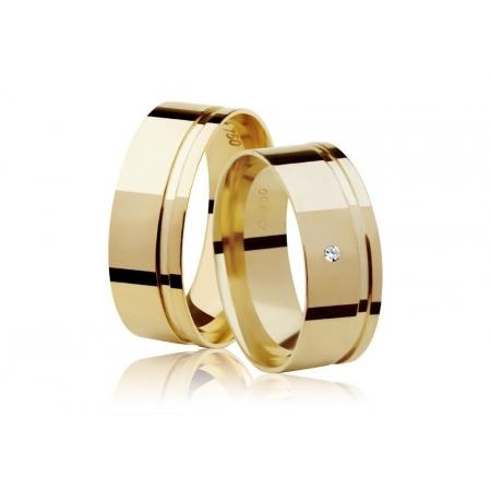 Aliança de Casamento Ouro Amarelo 18k  Frame Stone I - Unitária (7mm)