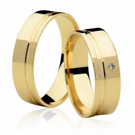 Aliança de Casamento Ouro Amarelo 18k  Frame Stone II - Unitária (5.5mm)