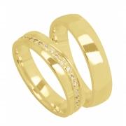 Aliança de Casamento Ouro Amarelo 18k Madri (4mm)