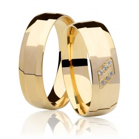 Aliança de Casamento Ouro Amarelo Allure - Unitária (6mm)