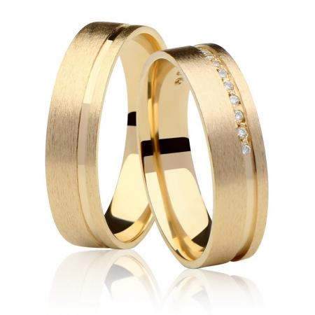 Aliança de Casamento Ouro Amarelo Fosca Love Me - Unitária (5mm)