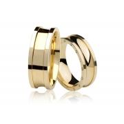 Aliança de Casamento Prelude Ouro Amarelo18k (7.30mm)