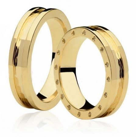 Aliança de Casamento Prelude Ouro Amarelo18k - Unitária (5.35mm)